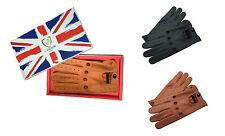 piel auténtica Napa Suave Hombre guantes para conducir diseño Chófer retro