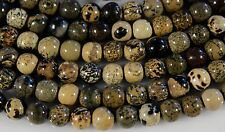 """AFRICAN ARTISTIC PICTURE JASPER 10MM ROUND BEADS  15"""" STRAND"""