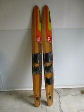 New listing Vintage Dick Pope Jr Cypress Gardens Water Skis - 67''