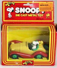 """1975 Aviva """"Snoopy's Sports Car"""" Die Cast Metal Toy"""