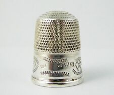 Antique 1919 Hallmark Sterling Silver Sewing Thimble Silversmith Charles Horner