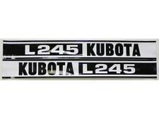 New Kubota L245 Hood Decal Set