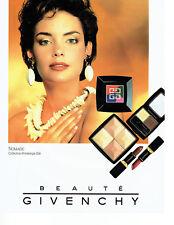 Publicité Advertising 038  1992   Givenchy maquillage  Nomade rouge lèvres