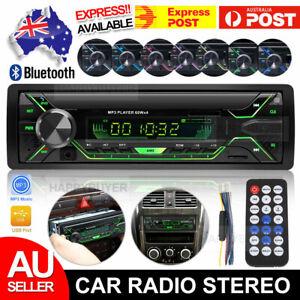 Car Stereo Audio Radio Bluetooth USB In-dash MP3 Player Head Unit NON-CD 1 DIN