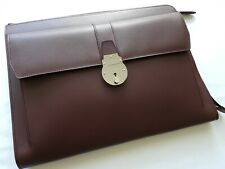 SMYTHSON GROSVENOR COLLECTION PORTFOLIO in OXBLOOD CALFSKIN RRP £1180 BN