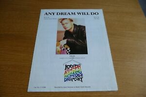 JASON DONOVAN ANY DREAM WILL DO ORIGINAL UK SHEET MUSIC