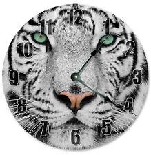 "WHITE TIGER Clock - Large 10.5"" Wall Clock - 2275"
