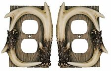 River's Edge Deer Antler Outlet Plate Receptacle Cover 550 - Set of 2