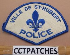 VILLE DE ST-HURBERT QUEBEC, CANADA POLICE SHOULDER PATCH