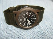 Men's TIMEX Lightweight Water Resistant Military Watch w/ New Battery