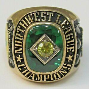 1980's MEDFORD ATHLETICS NWL CHAMPIONSHIP 10k gold ring Minor League baseball