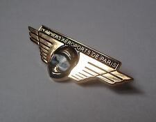 pin's pompier / insigne pompiers aéroports de Paris (doré double attache)