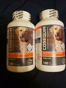 Cosequin DS Plus MSM Joint Health Supplement for Dogs 360 Tablets 2 Bottles