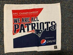 New England Patriots vs Baltimore Ravens Rally towel!! 2013 AFC Championship NEW
