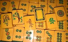 Unique Hand Carved Chinese Bakelite Mahjong Set ~Rare Flowers Awesome One Bams