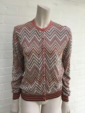 Just in Case Belgium Zig Zag Knit Button Down Cardigan Size S Small