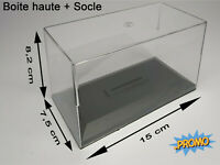 grossiste lot de 10 boites hautes vitrine 8.2cm et socles 1:43  produit neuf