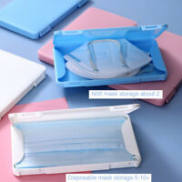 Case for Face Masks Storage Boxes Plastic Portable Mask Organizer  outdoor