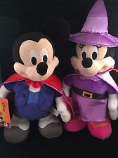 Disney Animated Mickey & Minnie Mouse - Just Play - Halloween - Vampire - Witch