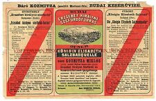 1900s Hungary Erzsebet Kiralyne Mineral Water Label Stephens Collection