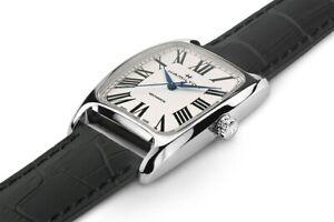 Hamilton Boulton Mechanical White Dial Black Leather Strap Men's Watch H13519711