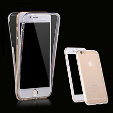 New Clear Shockproof Front and Back Gel Jelly TPU Skin Case Cover for iPhone 7