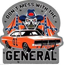 GENERAL LEE SKULL GARAGE USA HOT ROD AUTOCOLLANT STICKER AUTO MOTO 10CM