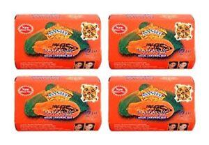 Asantee Thai Papaya Herbal Skin Soap 125 grams ( pack of 4 )