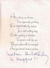 BRILLIANT 1968 SIGNED PAUL McCARTNEY BIRTHDAY CARD BEATLES GREAT AUTOGRAPH