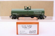 Precision Scale Co. Brass HO Scale Mathieson Chemicals 11k Gallon Tank Car