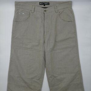 Quiksilver Galant W34 L30 beige Herren Jeans Designer Denim Retro Hose VTG Mode