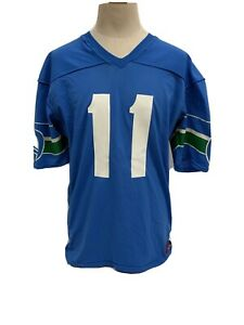 Vintage 80s Rawlings Seattle Seahawks #11 Jersey Made In USA Sz L 42-44 Nwots