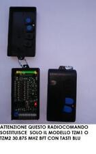TELECOMANDO RADIOCOMANDO TASTI BLU BFT 30,875 MHZ TZM 2 CON 2 X 10 DIP-SWITCH