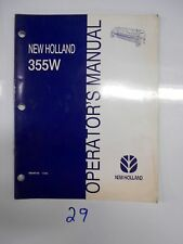 New Holland 355W Windrower Header Operator's Owner's Manual 86548142 12/96