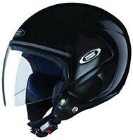 Studds Cub Open Face Black Helmet With Strip L Size