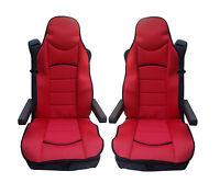 2x Rot Sitzauflage LKW-Sitz Sitzbezug Bezug Sitzschoner kompatibel für