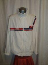 Vtg 80/90's Men's PUMA white Tracksuit Top Casual Terrace Jacket sz XL great con