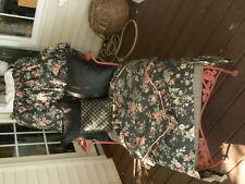 """18"""" drop Queen size custom made dust ruffle 2 pillow shams Valence 3 Pillows."""