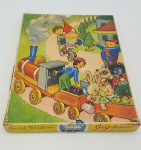 """Vintage Enid Blyton 60 piece """"Little Noddy plywood jigsaw"""""""