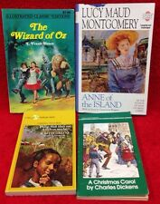 Young Adult CHAPTER BOOK LOT Classic WIZARD OF OZ Christmas Carol ANNE OF ISLAND