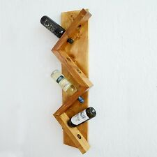 Wooden Wine Bottle Holder Rack Wall Mounted Kitchen Restaurants Bars