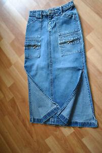"EUC Girls Denim Long Skirt by Union Bay Stretch size 7, waist 22"", side slits"