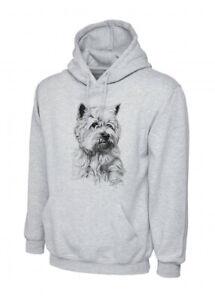 Mike Sibley West Highland Terrier / Westie Grey Unisex Hoodie XS-3XL