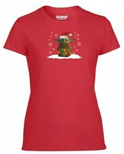 Santa Baby Yoda T Shirt Star Wars The Mandalorian Birthday Xmas Gift Women Top