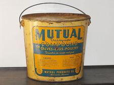 Old VTG Metal Original Mutual Dairyade Compound Farm Pig Cow Feed Bucket Pal