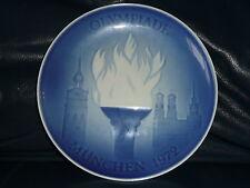 ROYAL COPENHAGEN, Bing & Grondahl, B & G 1972 MUNICH OLYMPICS PLATE