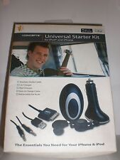 iCONCEPTS BLACK UNIVERSAL STARTER KIT FOR iPOD AND iPHONE NEW IN PACKAGE