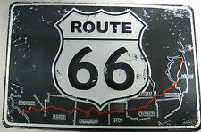 ROUTE 66 SIGN METAL 8X12 INCHES NEW AMERICA'S HIGHWAY MAP L690