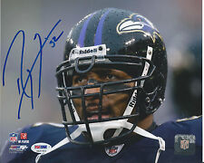 RAY LEWIS #52 PSA/DNA SIGNED 8x10 PHOTOGRAPH CERTIFIED AUTHENTIC AUTOGRAPH ITP