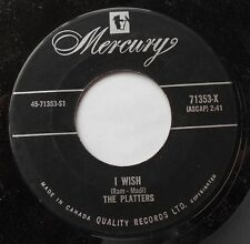 *THE PLATTERS I Wish /It's Raining Outside Ex to NM- CANADA ORIG 1958 DOO WOP 45